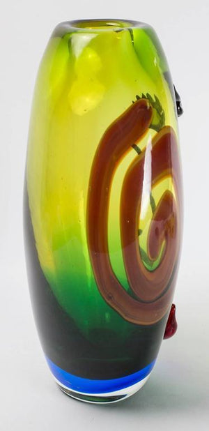 Large Picasso Style Murano Abstract Face Luxury Art Glass Vase