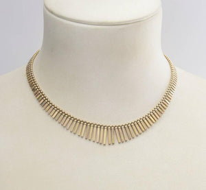 Cleopatra Yellow Gold Collar Statement Necklace