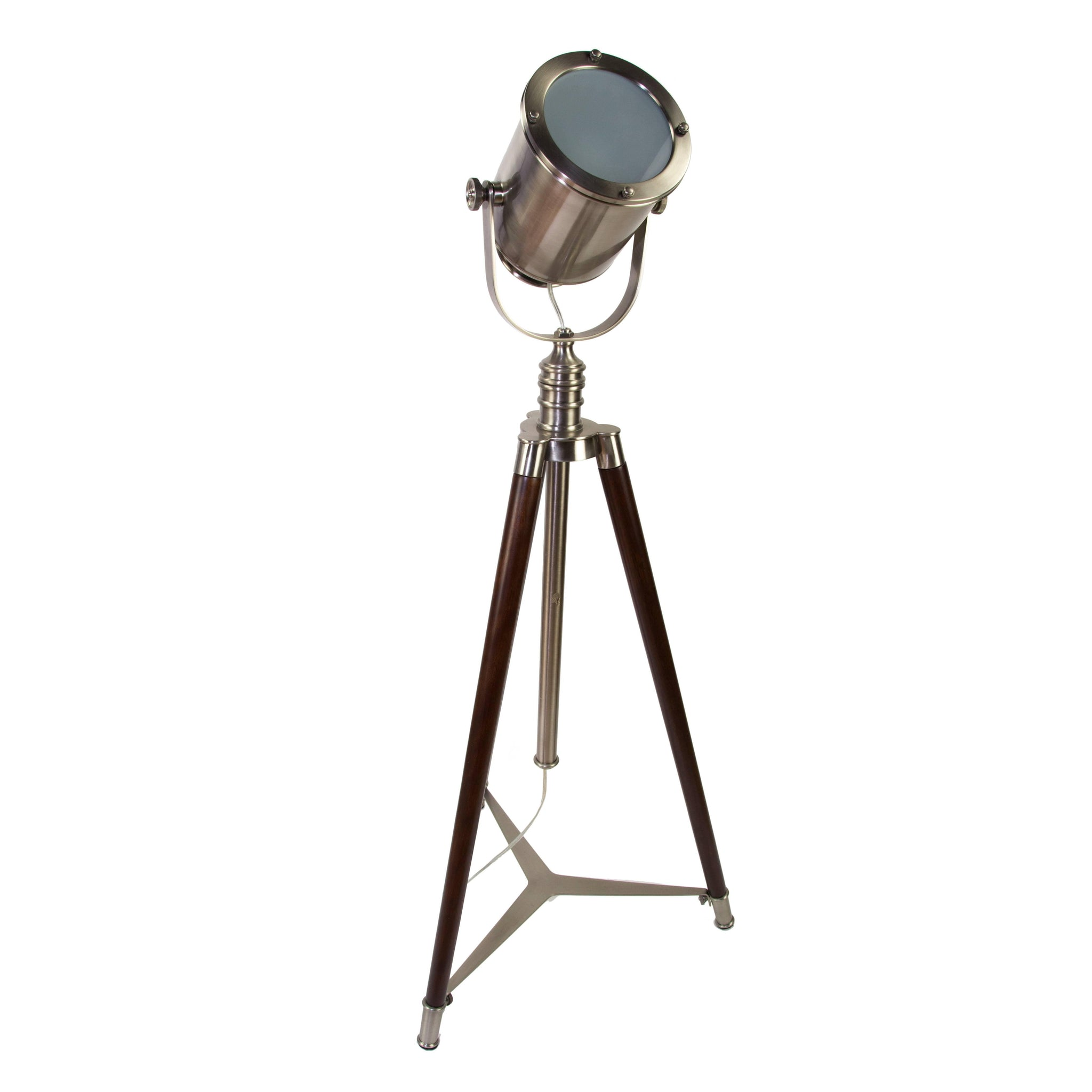 Picture of: Nautical Searchlight Style Tripod Floor Lamp Coach Luxury