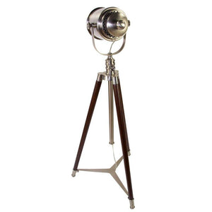 Nautical Searchlight Style Tripod Floor Lamp