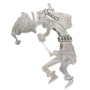 Native American Carolyn Pollack Kokopelli Sterling Silver Pendant Brooch Pin