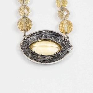 Edwardian Citrine Sterling Silver  Necklace