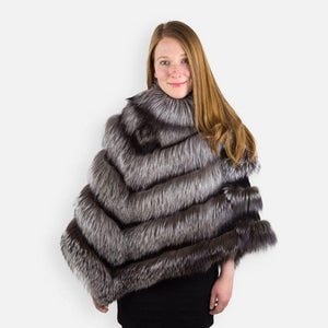Luxurious Silver Fox Fur Statement Stole