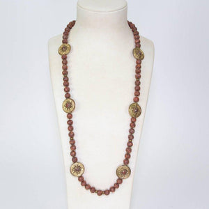Old Tibet Coral Beads Gilt Silver Statement Necklace