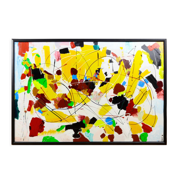 Custard Acrylic on Canvas Framed Painting Andrew Plum