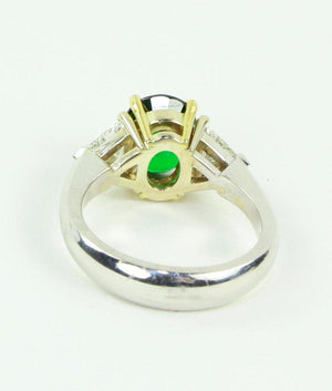 2.90 Carat Tsavorite Garnet Diamond Solitaire Gold Engagement Ring