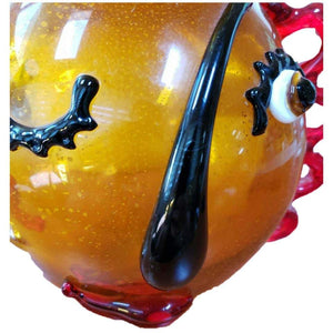 Large Murano Abstract Face Luxury Picasso Style Art Glass Vase
