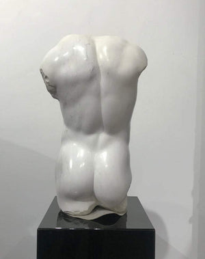 Magnificent Large Marble Nude Male Torso