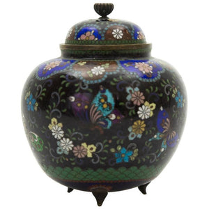 19th Century Japanese Cloisonné Ginger Jar