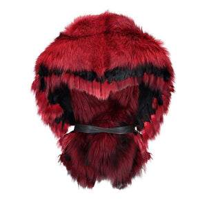 Luxurious Oversized Fireside Red Fox Fringe Fur Statement Stole Wrap