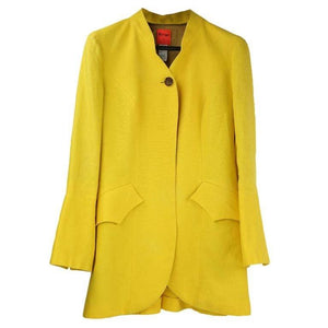 Vintage Christian Lacroix Yellow Linen Jacket