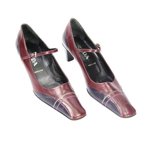 RARE Prada VERO CUOIO Bi-color Leather Pumps Shoes
