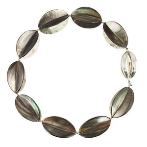 Nacre Shell Star Fruit and Sterling Silver Necklace