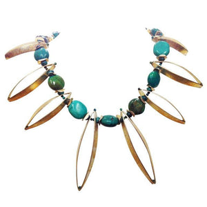 Art Moderne Turquoise Sterling Silver Necklace