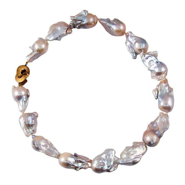 Baroque Free-Form Pearl Necklace