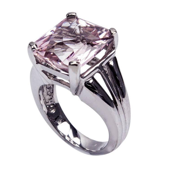 11 Carat Kunzite Gold Solitaire Ring