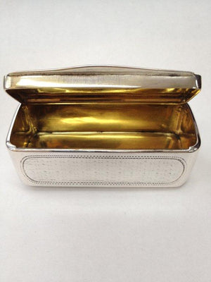 Antique Hand Engraved Gilt Interior Silver Tobacco Box, Vienna