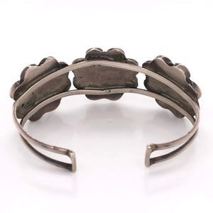Native American HOPI Headdress Sterling Silver Cuff Bracelet Estate Fine Jewelry