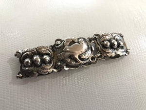 Vintage Georg Jensen Dove Bird Sterling Silver Bracelet #14 Denmark Estate Find