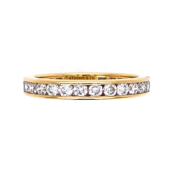 Tiffany & Co. Diamond Eternity engagement Band Ring Estate Fine Jewelry