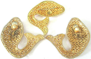 Designer Dominique Aurentis Paris Signed Golden Fish Brooch and Earrings