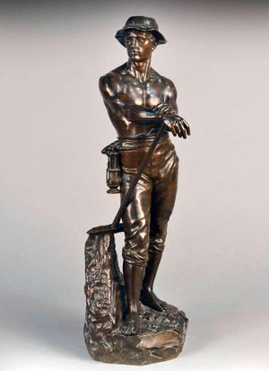 Bronze Sculpture Le Mineur by Charles Levy