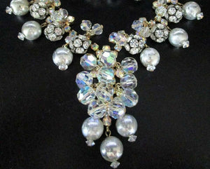 Designer Juliana Rhinestone Balls Crystal and Silver Beads Necklace and Earrings