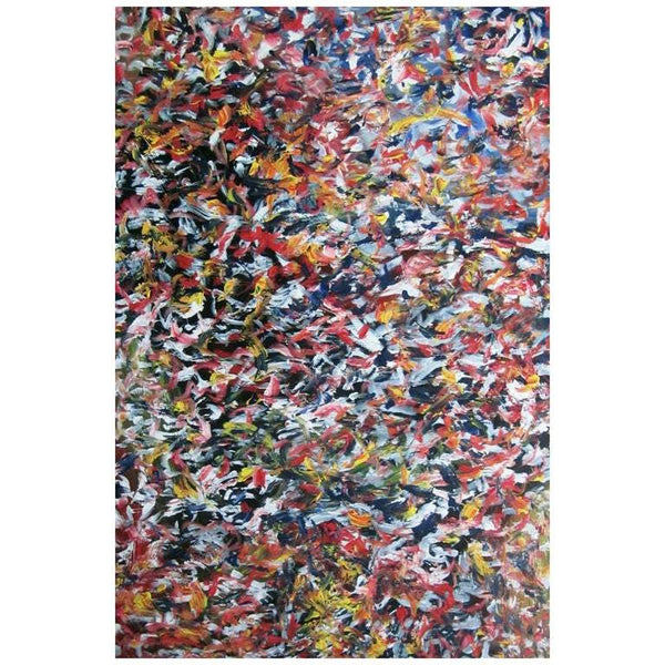 "Abstract Acrylic on Canvas Painting ""Of The Game"" by Alexander Hecht"