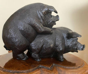 When Pigs Fornicate Bronze Sculpture