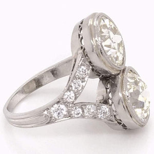 Art Deco 5.00 Carat Old European Diamond Platinum Engagement Ring