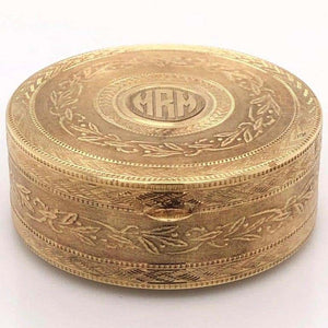 Tiffany & Co. Gold Trinket Box with Ring Holder Estate Fine Collectible