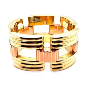 Tiffany & Co. Retro Link Gold Bracelet Estate Fine Jewelry