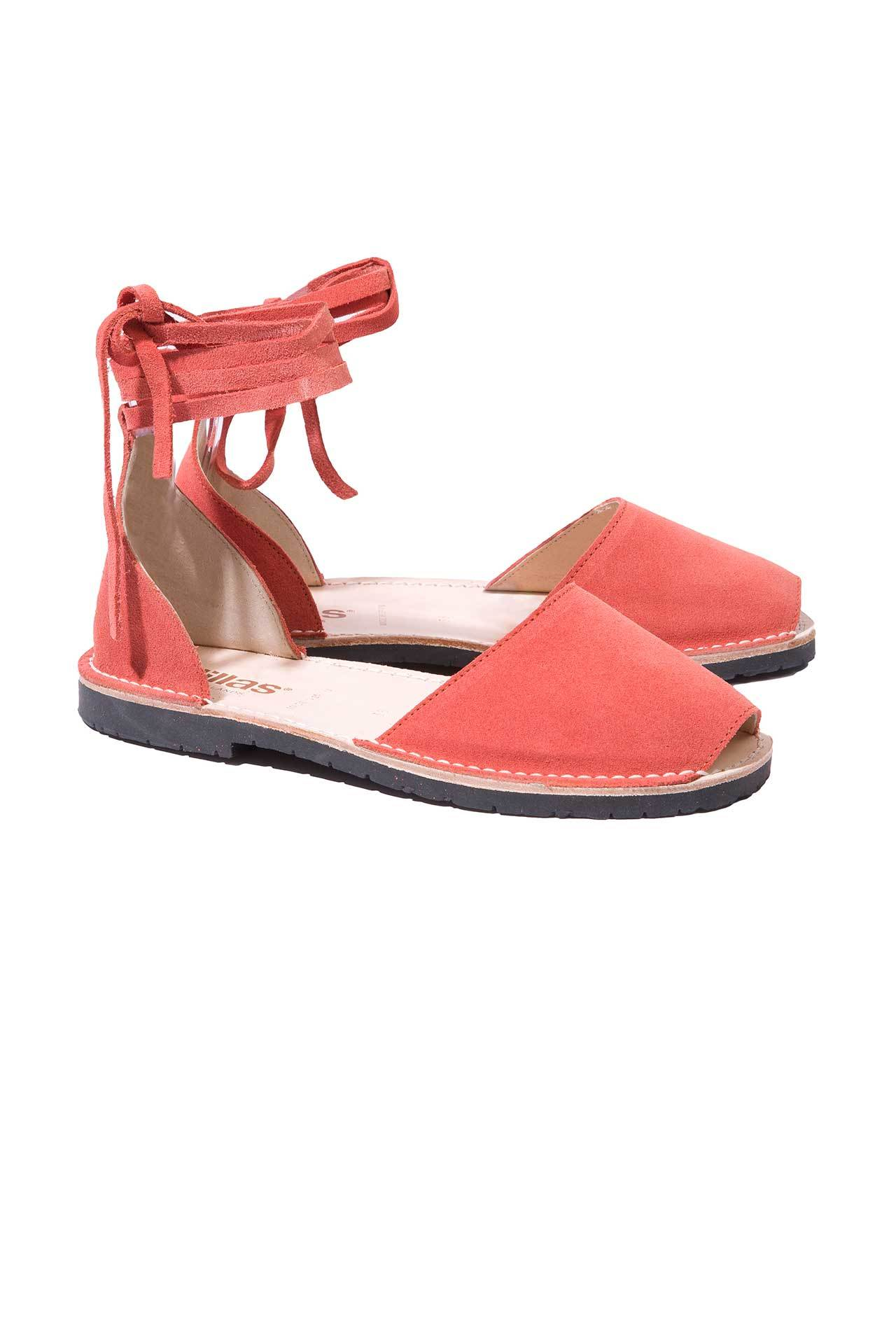 cheap pay with paypal 2014 new sale online Solillas Pink Suede Ankle Tie Menorcan Sandals xbAYh8IQg