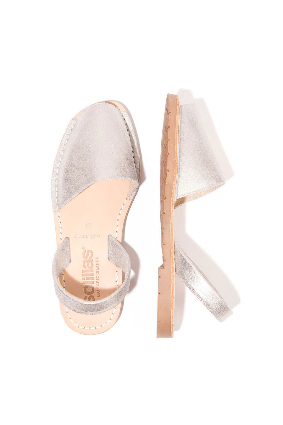 Lluna - Dusted Leather Menorcan sandals
