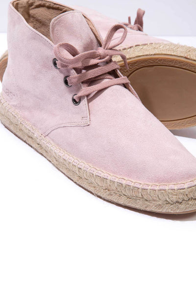 Espadrille Boots   Pink Suede Leather