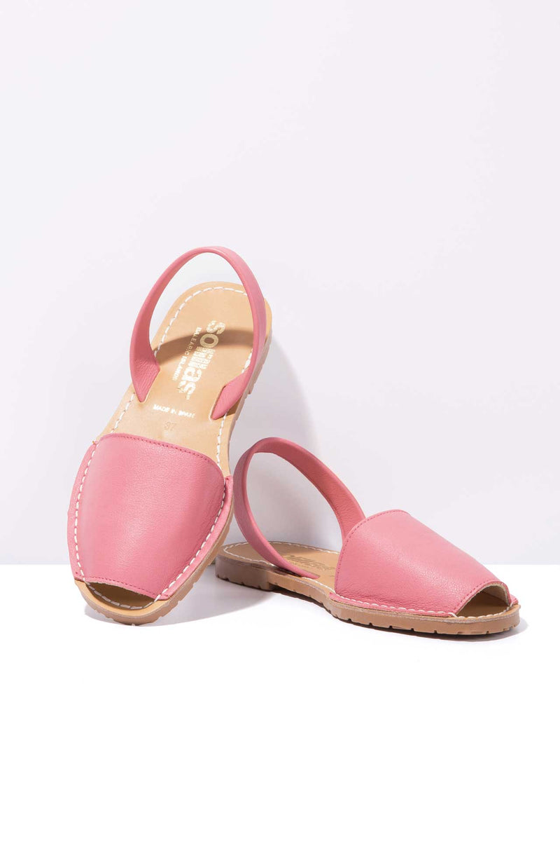 SORBETE ORIGINAL - Pink Leather Menorcan Sandals