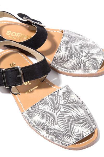 SOMBREADO PESCA - Palm Print Menorcan Sandals