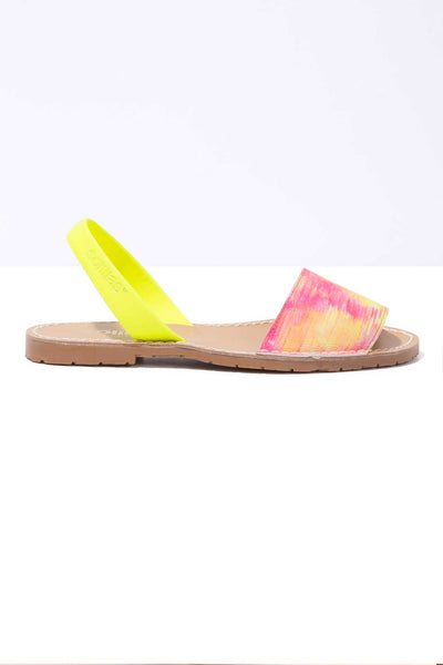 FLUORO FRESCA - Neon Leather Menorcan Sandals