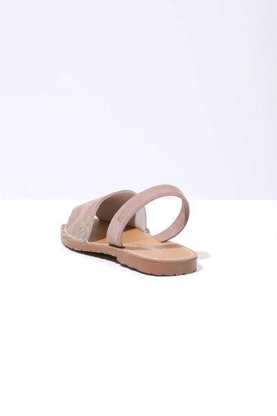 LINTERNA - Distressed Suede Menorcan sandals