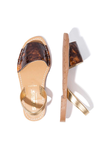 TORTUGAS FRESCA - Tortoiseshell Leather Menorcan Sandals