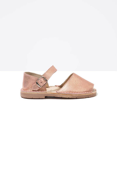 Solillas Rose Leather Menorcan Sandals