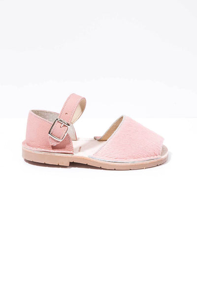 Fiestecita - Fur Leather Buckle sandals