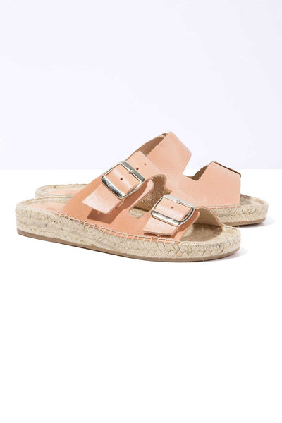 CORAL NEVA - Leather Buckle Espadrille