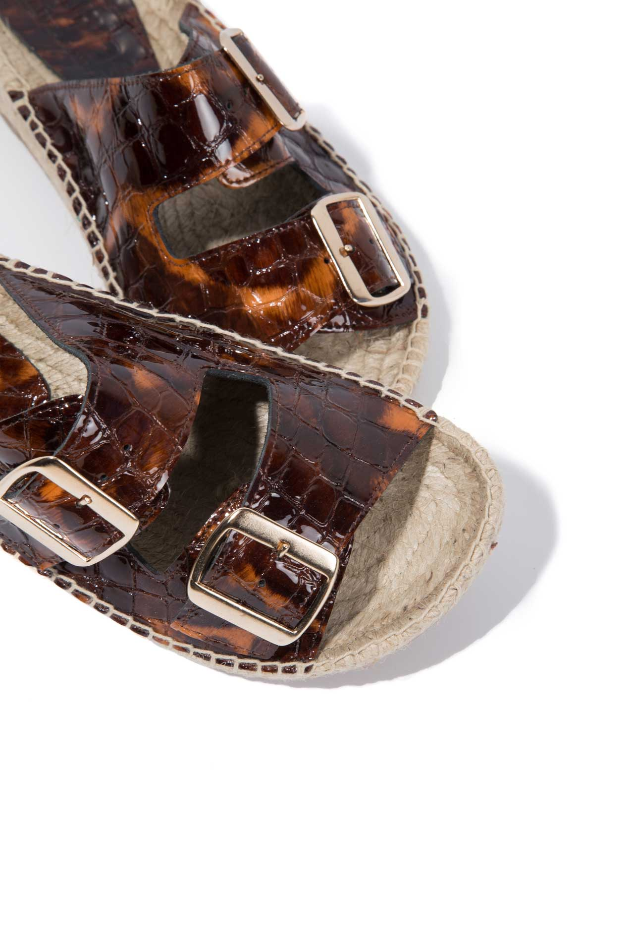 TORTUGAS NEVA - Leather Buckle Espadrille