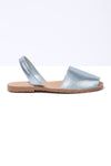 SIRENA - Blue Metallic Leather Menorcan sandals
