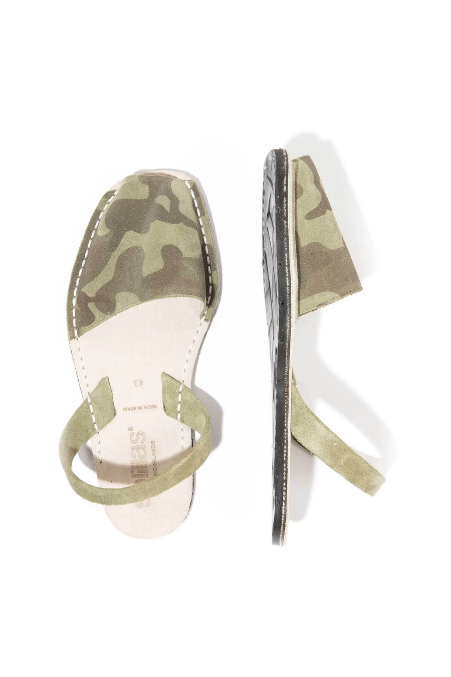 Khaki Camo - Camoflague Suede sandals