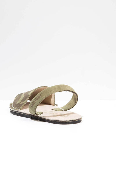 Khaki Camo - Camoflague Suede sandals - Women
