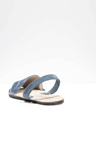 Navy Camo - Camoflague Suede sandals - Men