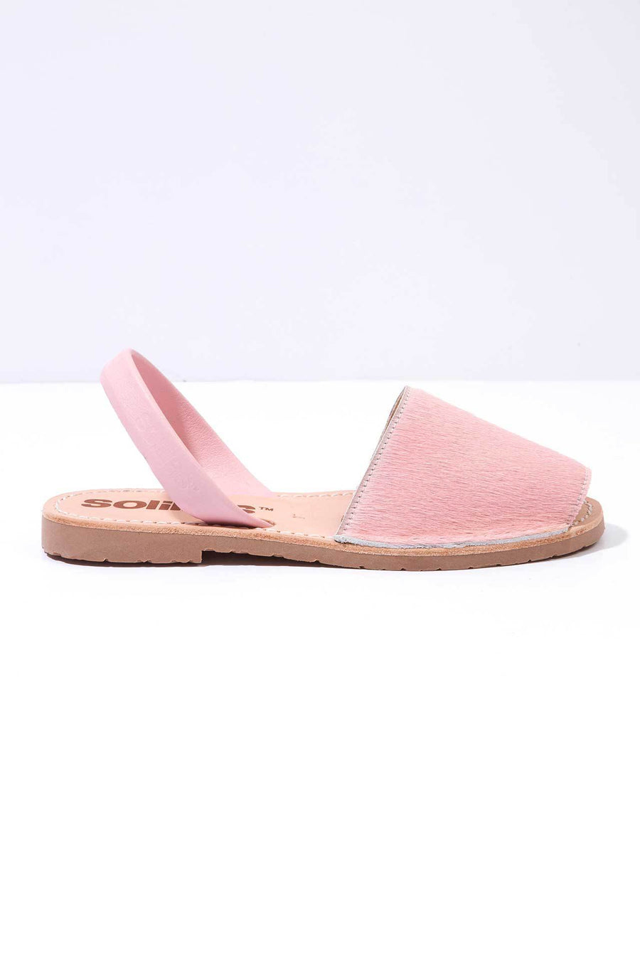 e45ae573fa279 Pink fur Menorcan Sandals for Women
