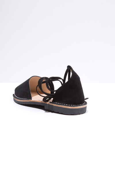 Pantera - Suede Ankle Tie Sandals